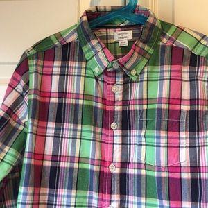 Gymboree boys 7-8 button-down shirt. Great colors.